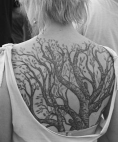 The Back Tree - 60 Awesome Tree Tattoo Designs  <3 <3