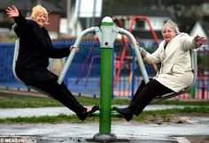 Playgrounds for the elderly? Awesome!