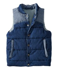 Love this Medium-Wash Out the Door Denim Vest - Infant, Toddler & Boys by Hanna Andersson on #zulily! #zulilyfinds