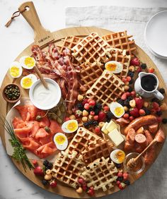 How to Make a Breakfast Board Williams-Sonoma Taste How to Make a Breakfast Board Williams-Sonoma Taste Ann Hume Fresh Food The breakfast board is sweeping the nbsp hellip Board how to make a Breakfast Platter, Breakfast Meat, Cheese Board Set, Charcuterie And Cheese Board, Antipasto, Brunch Recipes, Breakfast Recipes, Food Platters, How To Cook Eggs