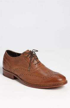 I also like the oakier color, more interesting than flat, dark brown    Cole Haan 'Air Colton' Wingtip Oxford | Nordstrom