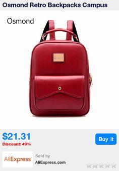 Osmond Retro Backpacks Campus Style Women Leather Backpack Ladies Girls School Shoulder Bags College Bag Mochila Fashion Bolsa * Pub Date: 23:17 Apr 16 2017