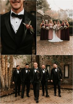 Groomsmen Attire Fall Wedding, Bridesmaids And Groomsmen, Groomsmen Attire Black, Groomsman Attire, Wedding Beauty, Dream Wedding, Wedding Dreams, Grooms Party, Wedding Photography Poses