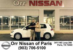 https://flic.kr/p/D4oict | Congratulations Katrina on your #Volkswagen #Golf from Nick Jones at Orr Nissan of Paris! | deliverymaxx.com/DealerReviews.aspx?DealerCode=J476