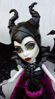 Monster High Maleficent Custom | ✋More Pins Like This At FOSTERGINGER @ Pinterest☝✋