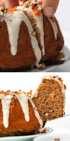 This homemade Quinoa Carrot Cake recipe uses a healthy blend of almond and quinoa flour for the BEST light, gluten-free, moist cake that's high in protein! Easy to make and great for a crowd on Easter this spring or summer! Healthy Carrot Cakes, Homemade Carrot Cake, Healthy Cake Recipes, Homemade Cake Recipes, Healthy Sweets, Baking Recipes, Quinoa Desserts, Quinoa Cake, Kid Desserts