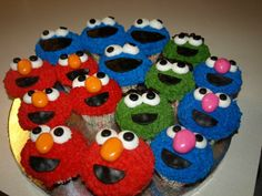 Sesame Street Cupcakes - I had so much fun making these with my daughter.  Deorated with BC and fondant accents.  Thanks to so many on CC for inspiration!