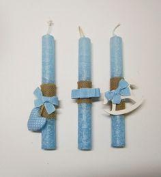 Πασχαλινές λαμπάδες για το πρώτο Πάσχα PL027 Easter, Diy Crafts, Candles, Deco, Handmade, Hand Made, Easter Activities, Make Your Own, Candy