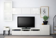 Most latest and graceful TV wall designs. Living room tv Storage Create this coo… Most latest and graceful TV wall designs. Living room tv Storage Create this cool concept in your favorite room. Home Living Room, Interior, Home, Ikea Living Room, Ikea, Living Room Diy, Tv Storage, Ikea Tv, Living Room Tv