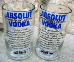 I love this idea!! Not sure I could cut the glass myself though....10 Things To Do With A Leftover Liquor Bottle | Her Campus