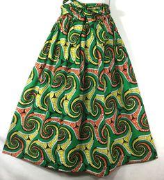 Details about Women Flared Long Skirt Ankara Wax Fabric African ...