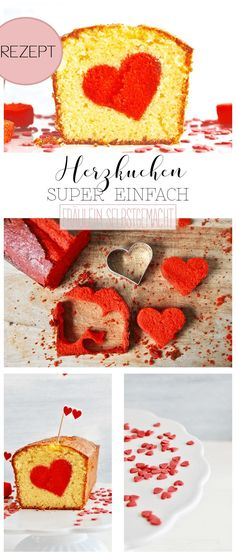 Heart Cake for Valentine& Day by Miss Homemade Her . - Heart cake for Valentine& Day by Miss Homemade Heart cake for Valentine& - Valentines Day Food, Homemade Valentines, Cheesecake Recipes, Dessert Recipes, Dinner Recipes, Salad Recipes, Food Carving, Apple Smoothies, Keto
