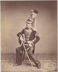Foto van Vergeet re-enactment, dit zijn de enige foto's van Napoleons veteranen van Waterloo