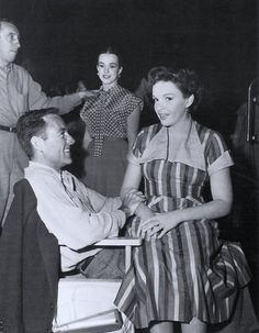 Judy Garland and Gene Kelly, on the set of SUMMER STOCK
