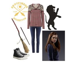 """""""Harry Potter: Ginny Weasley"""" by wearwhatyouread4002 ❤ liked on Polyvore featuring H&M, Tulchan and Converse"""
