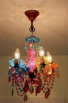 Gypsy Chandelier #urbanoutfitters - cute in a casual, fun space or to lighten the mood in a more serious room.