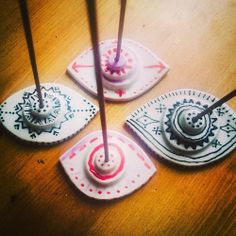Eye Incense Holder Inspiration. I don't like the designs on these, just the idea.
