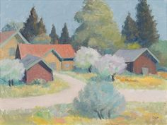 EARLY SUMMER by Onni Oja Past, Artists, Summer, Painting, Paintings, Draw, Artist, Drawings, Summer Time
