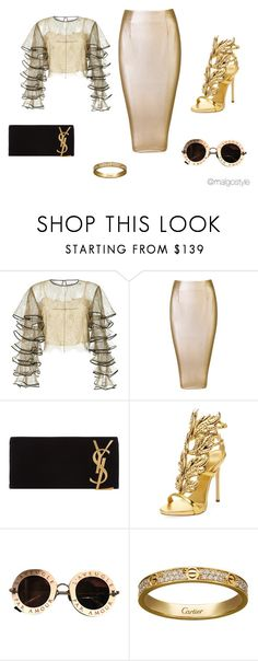 """""""Untitled #60"""" by nerdygets on Polyvore featuring HUISHAN ZHANG, Yves Saint Laurent, Giuseppe Zanotti, Gucci and Cartier"""