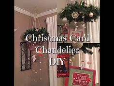 DIY Christmas Card Chandelier - Holiday Dollar Store Supplies - YouTube