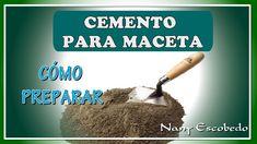 CÓMO PREPARAR EL CEMENTO PARA HACER MACETAS Cement Planters, Concrete Cement, Flower Pot Design, Sewing Room Organization, Cement Crafts, Ceramic Pots, Diy Arts And Crafts, Garden Projects, Flower Pots