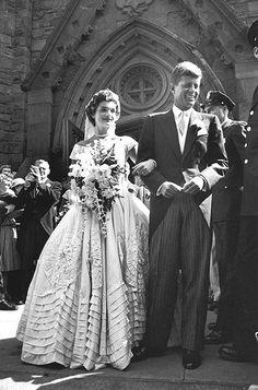 Jackie Kennedy in her Wedding Dress Newport, RI::         #VisitRhodeIsland #soRIhistory, #soRI