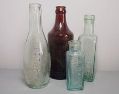 Vintage and Antique Glass Bottles/Brown Schweppes by SukiandPolly