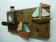 Driftwood art plaque 3D picture sailing by HighTideDesignUK, £70.00