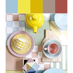 Deepen a pale palette, finding colors a few shades darker than the pastel inspiration