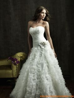 Robe de mariée bustier en organza robe romantique