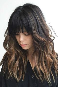 Bangs - like the short bang but how the rest is long★ See more: http://lovehairstyles.com/modern-long-layered-hair-with-bangs/