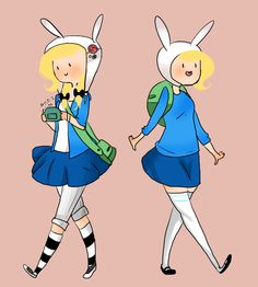 Modern Fionna and FIONNA by SplicedLamia.deviantart.com on @deviantART