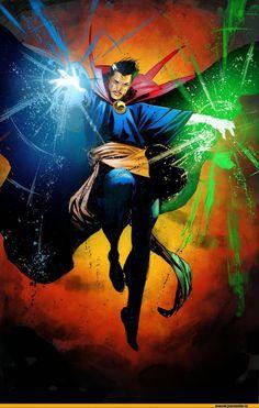 Doctor Strange:My in my top ten list of male MARVEL heroes. Marvel Doctor Strange, Dr Strange, Strange Magic, Hq Marvel, Marvel Comics Art, Marvel Comic Books, Marvel Heroes, Comic Books Art, Comic Art