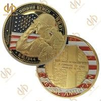 Wish | WWII 1944.6.6 Omaha Beach Land Cimetiere American Metal Challenge Coins Collection  (Size: 40mm by 3mm, Color: Gold)