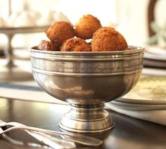 Antique Silver Snack Bowl-Pottery Barn