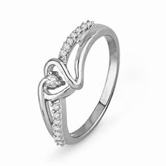 Sterling Silver Round Diamond Heart Promise Ring « Holiday Adds