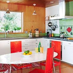 How to get a colorful, retro kitchen