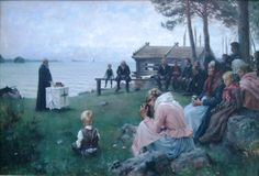 "Albert Edelfelt 1854-1905 Finnish painter  ""Divine Service"""