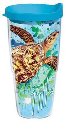 Tervis Tumbler Guy Harvey Turtle Splatter Insulated Wrap With Lid - 24 oz.