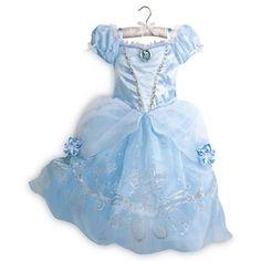 fantasia cinderela disney store vestido 5/6 lançamento 2015