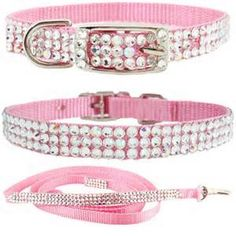 pink dog collar - Pink and Girly Pinned by Van xo