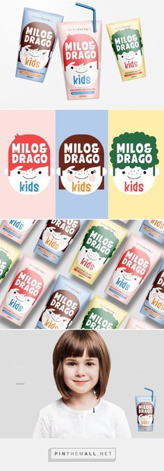 Milo&Drago milk packaging design by Predrag Markovic - http://www.packagingoftheworld.com/2017/09/milo-concept.html