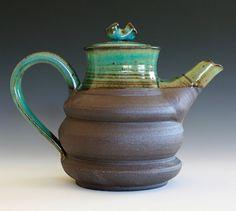handmade ceramic coffee pot by Kazem Arshi