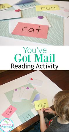 Adorable You've Got Mail Reading Activity. The kids get to open and read their mail. So fun!! - Planning Playtime
