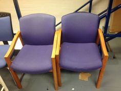 4 X Used Waiting Room Chairs / Reception Chairs Wooden Legs & Used Waiting Room Chairs / Reception Chairs | Office | Pinterest | Room