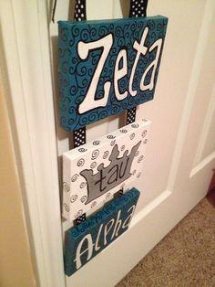 Zeta Tau Alpha Hanger by LittleDoodlesByKoley on Etsy ZTA