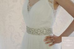 """""""Belle"""" is our New Stunning Wedding Dress Belt. A Luxury of countless sparkling Crystals and shiny clear beads. This sophisticated design is a perfect finishing touch for your dream Wedding Dress."""