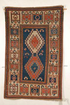 Kazak Rug, Southwest Caucasus, second half 19th century,  5 ft. 11 in. x 3 ft. 8 in.   | Skinner Auctioneers Sale 2436
