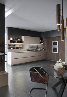 italienische küchen von snaidero weiß lila kochinsel | lifestyle, Kuchen