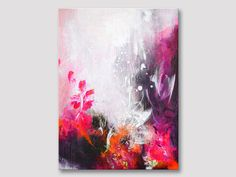 Original fine art abstract painting, modern art, acrylic painting, multicolored artwork on stretched canvas, original work of art, colorful